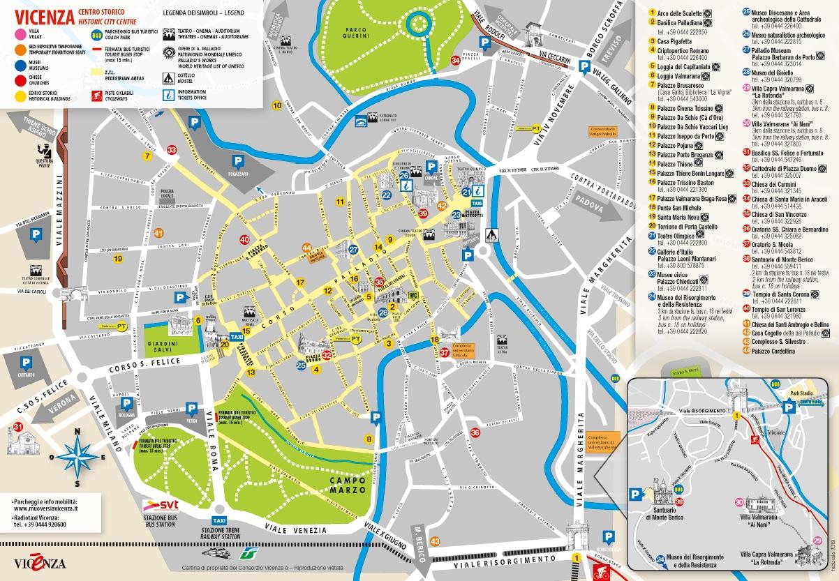 Scopri vicenza la card musei e la mappa del centro for Appartamento centro storico vicenza