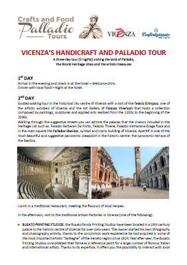 vicenza s handicraft and palladio tour