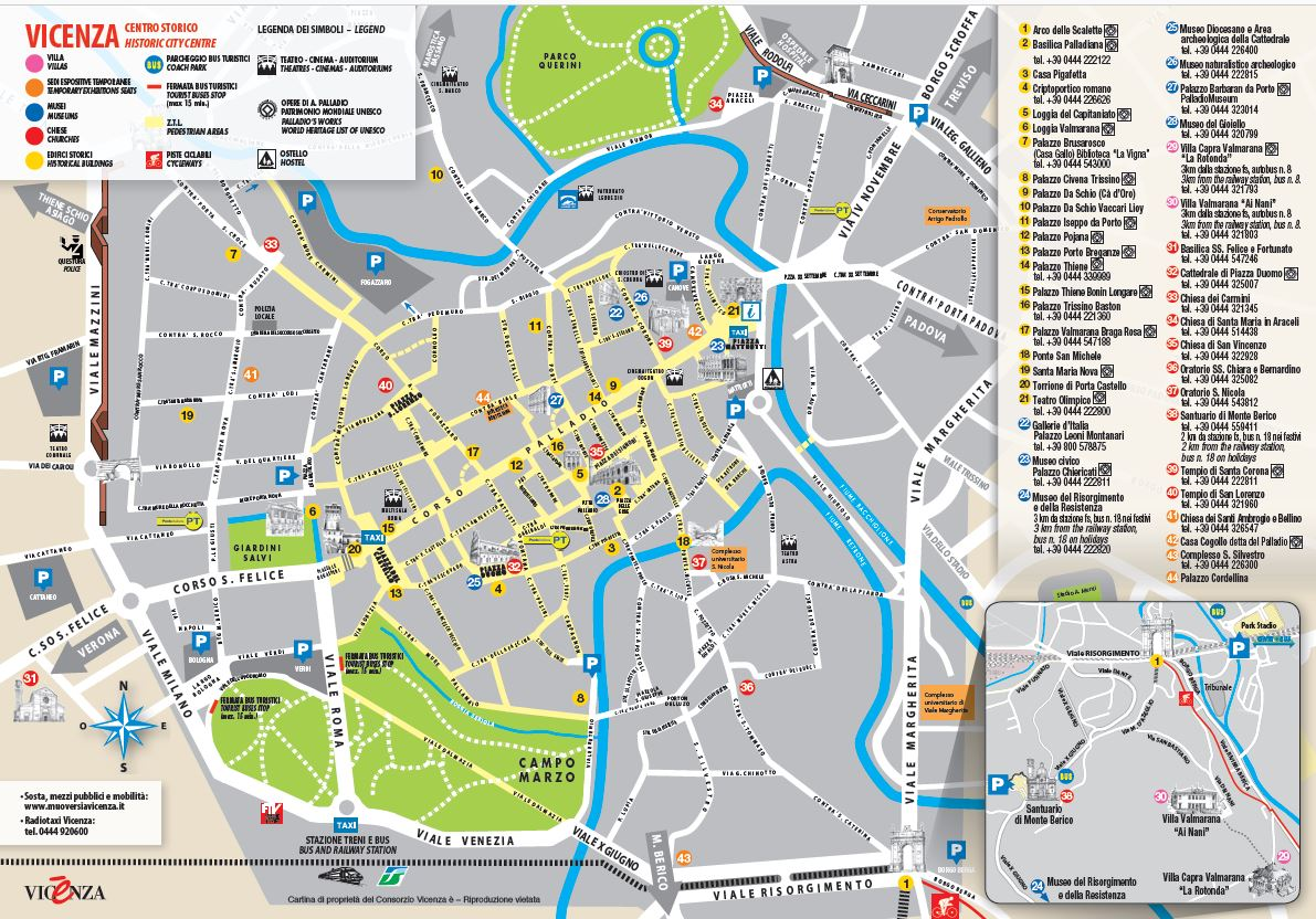 Scopri Vicenza: la Card Musei e la mappa del centro storico - Consorzio Turistico Vicenzaè